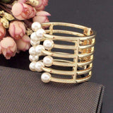 BRACELET Trendy Pearl Gold Color Cuff Bangle Bracelet LoxLux Jewelry