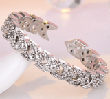 Rose Gold & Silver Adjustable Open Finger Arrow Ring - Ring - LoxLux Jewelry