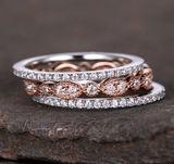 Cubic Zirconia Rings 3Pcs Ring Set - Ring - LoxLux Jewelry