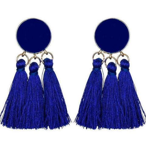 Bohemian Long Tassel Dangle Earrings - Earrings - LoxLux Jewelry