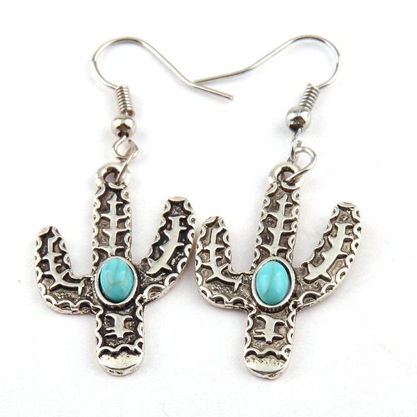 Fashionable Metal Cactus Earrings - Earrings - LoxLux Jewelry