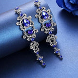 Earrings Rhinestone Chandelier Crystal Long Hanging Earrings LoxLux Jewelry