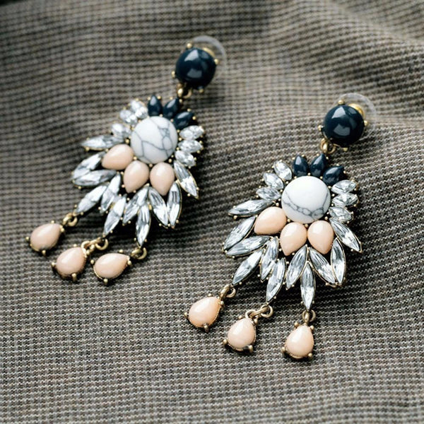 Earrings Rhinestone Crystal Long Earrings LoxLux Jewelry