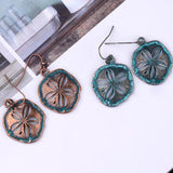 Earrings Sand Dollar Flower Pattern Beach Earrings LoxLux Jewelry