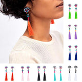 Earrings Tassel Long Dangle Drop Earrings LoxLux Jewelry