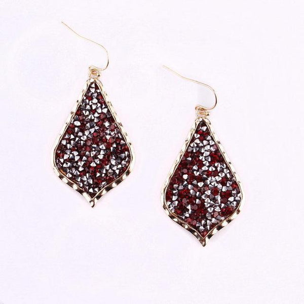 Earrings Teardrop Pave Rhinestone Earrings LoxLux Jewelry