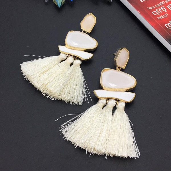 Earrings Trendy Long Tassel Geometric Acrylic Fringed Dangle Earrings LoxLux Jewelry