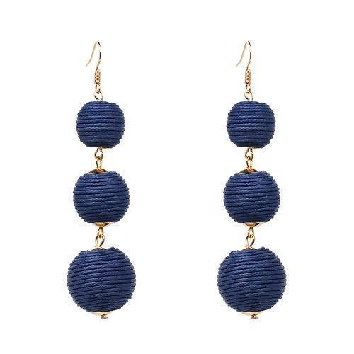 Earrings Trendy Pom Pom Ball Drop Dangle Earrings LoxLux Jewelry