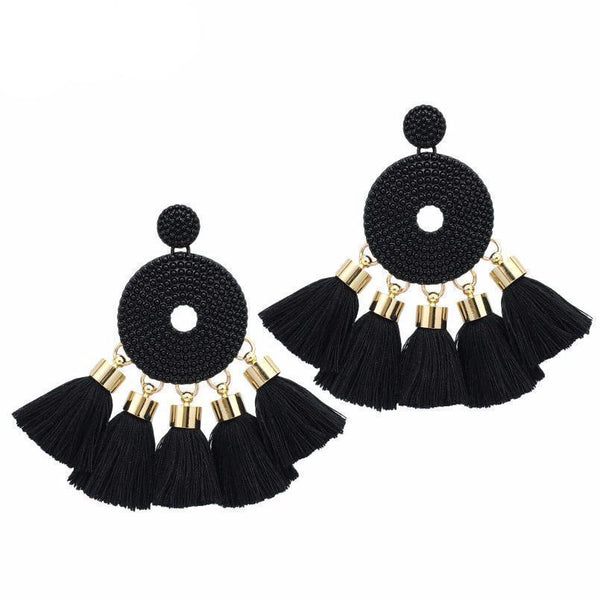 Earrings Trendy Tassel Big Alloy Long Dangling Earrings LoxLux Jewelry