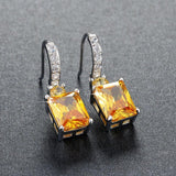 Yellow Zircon Cubic Zirconia Drop Earrings - Earrings - LoxLux Jewelry