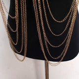 Boho Style Alloy Collar Choker Chains Necklace - necklace - LoxLux Jewelry