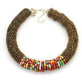 Colorful Bohemia Style Beaded Chokers Necklace - necklace - LoxLux Jewelry