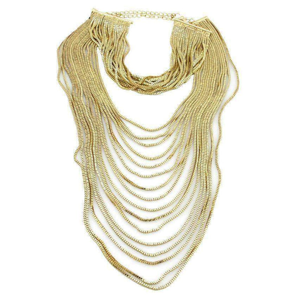 Exotic Multi Layer Chain Choker Necklace - necklace - LoxLux Jewelry