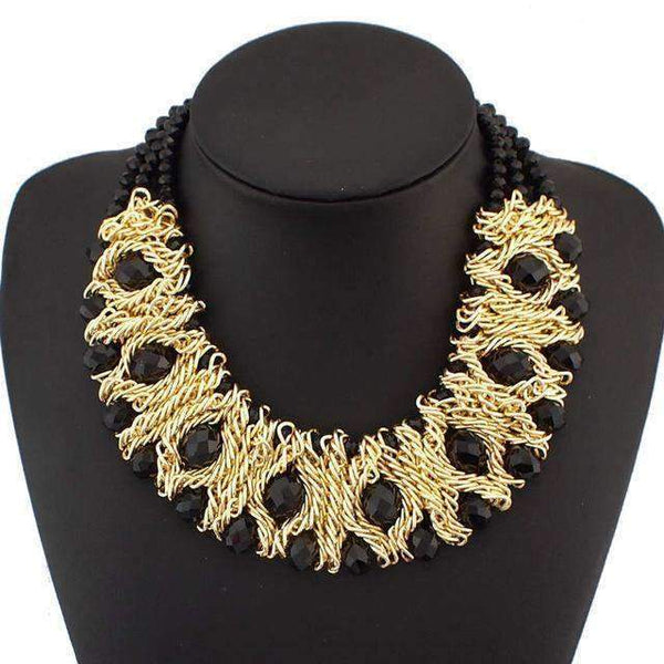 Fashion Maxi Collar Statement Necklace - necklace - LoxLux Jewelry
