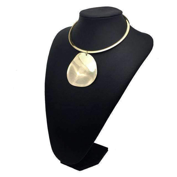 Golden & Silver Color Collar Choker Necklace - necklace - LoxLux Jewelry