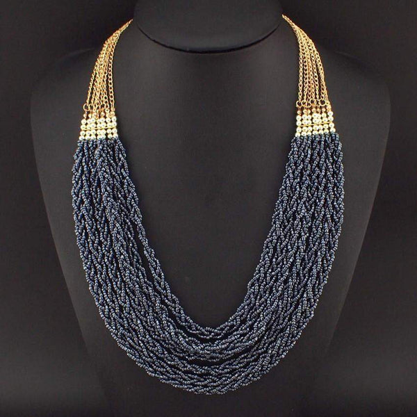 Handmade Multilayer Bead Chain Necklace - necklace - LoxLux Jewelry