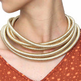 necklace Multilayer Collar Magnetism Button Chokers Necklace LoxLux Jewelry