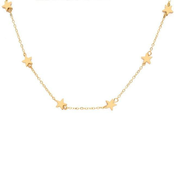 necklace Pentagonal Star Clavicle Chain Choker Necklace LoxLux Jewelry