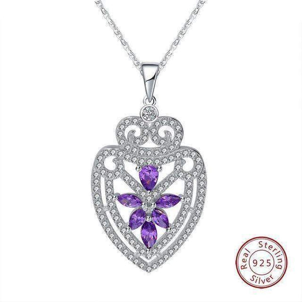 necklace Purple Zircon Cubic Zirconia Decorative Necklace LoxLux Jewelry