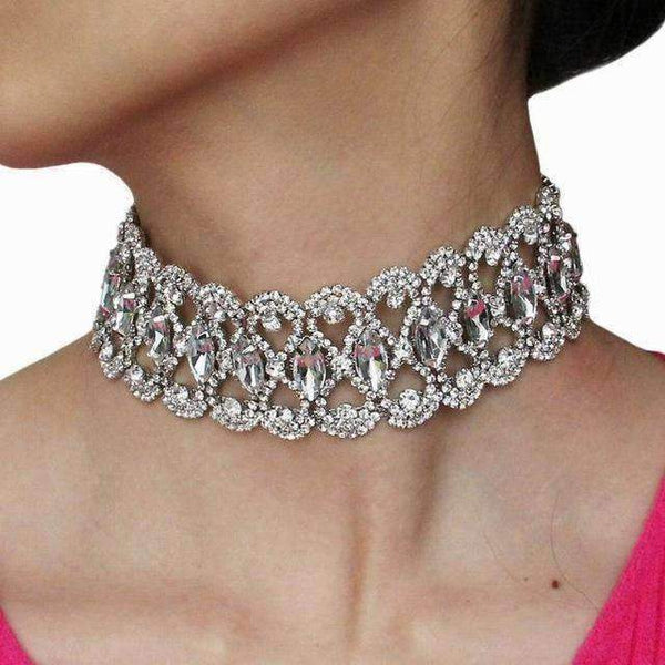 necklace Rhinestone Choker Statement Necklace LoxLux Jewelry
