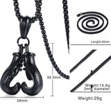 necklace Stainless Steel Boxing Gloves Necklace LoxLux Jewelry