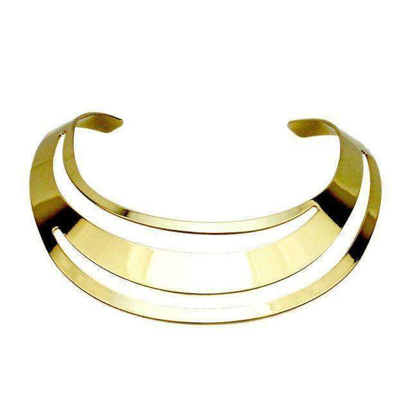 necklace Torque Gold/Silver Choker Necklace LoxLux Jewelry