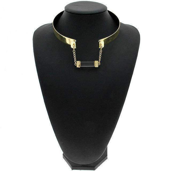 necklace Trendy Barrel Pendant Torque Bib Collar Necklace LoxLux Jewelry