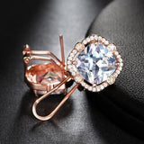 Cubic Zirconia 4ct Cushion Cut Stud Earrings - Earrings - LoxLux Jewelry