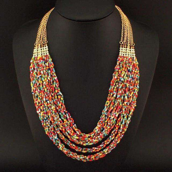 Boho Multilayer Bead Chain Necklaces - necklace - LoxLux Jewelry