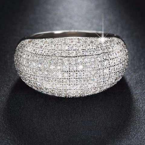 Cubic Zirconia Full Pave Ring - Ring - LoxLux Jewelry