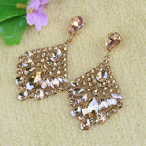 Big Crystal Trendy Drop Stud Earrings - Earrings - LoxLux Jewelry