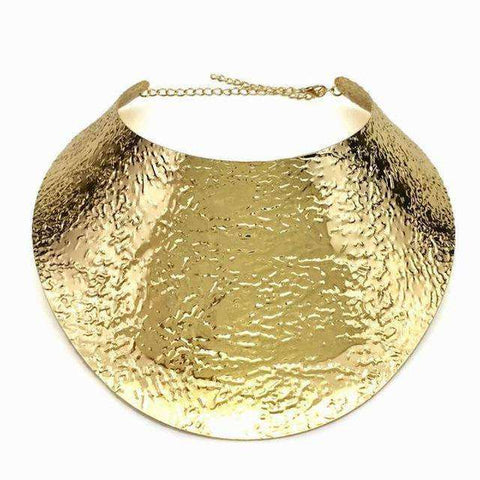 Boho Torque Gold or Silver Color Collar Choker Necklace - necklace - LoxLux Jewelry