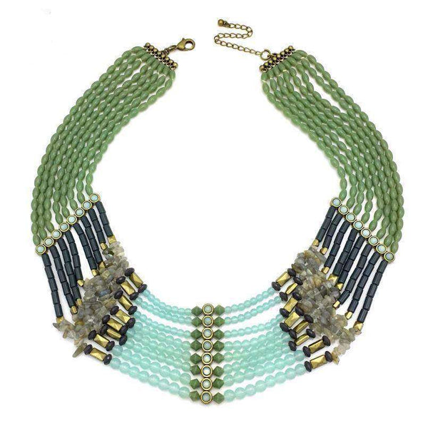 Boho Beaded Collar Necklace - necklace - LoxLux Jewelry