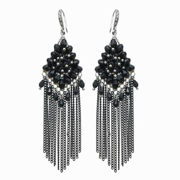 Alloy Long Chains Tassel Dangle Drop Earrings - Earrings - LoxLux Jewelry