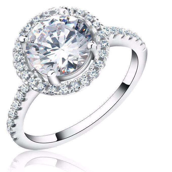 Cubic Zirconia 1.4ct Engagement Style Ring - Ring - LoxLux Jewelry