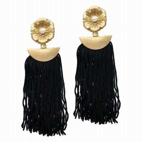 Boho Tassel Fringe Dangle Earrings - Earrings - LoxLux Jewelry