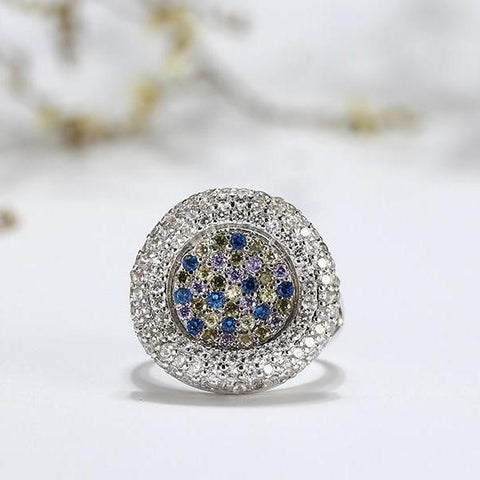 AAA Full Pave Colorful Dazzling CZ Ring - Ring - LoxLux Jewelry