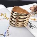 Big Punk Alloy Statement Cuff Bracelets - BRACELET - LoxLux Jewelry