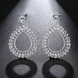 Cubic Zirconia Teardrop Statement Dangle Drop Earrings - Earrings - LoxLux Jewelry