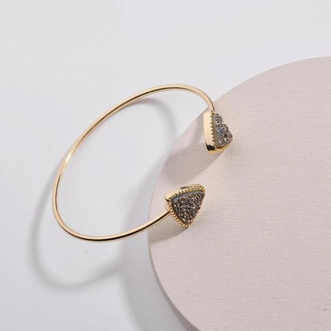 Faux Druzy Triangle Shape Adjustable Open Bracelets - BRACELET - LoxLux Jewelry