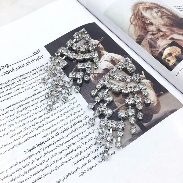 Big  Luxury Crystal Punk Statement Stud Earrings - Earrings - LoxLux Jewelry