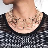 Hollow Metal Big Torque Choker Necklace - necklace - LoxLux Jewelry