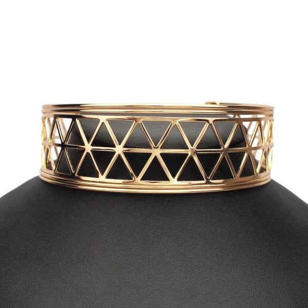 Big Alloy Torques Punk Metal Choker Necklace - necklace - LoxLux Jewelry