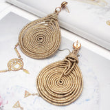 Round Spiral Alloy Big Dangle Drop Earrings