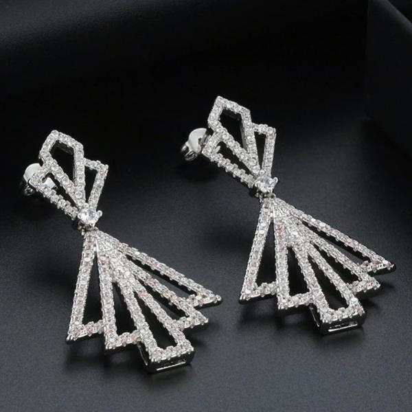 AAA Dazzling CZ Bow Shape Stud Earrings - Earrings - LoxLux Jewelry