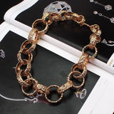 Statement Metal Coarse Popcorn Chain Choker Necklace