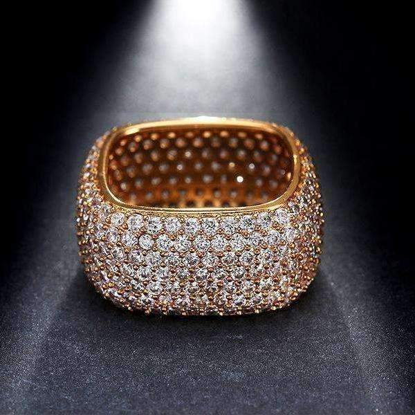 Cubic Zirconia Unique Gold Color Vintage Statement Ring - Ring - LoxLux Jewelry