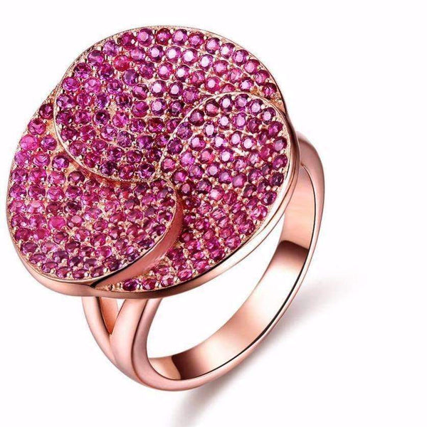 Ring Pink Zircon Cubic Zirconia Rose Gold Ring LoxLux Jewelry
