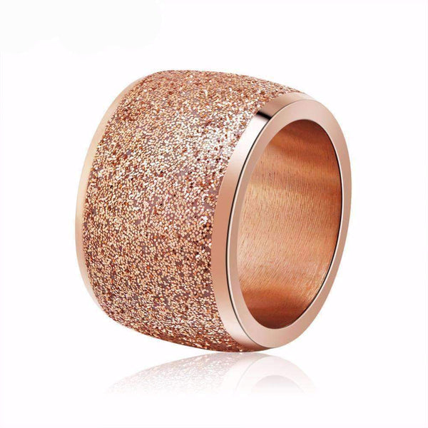 Ring Stainless Steel Rose Gold / Silver Color Sparkle Ring LoxLux Jewelry
