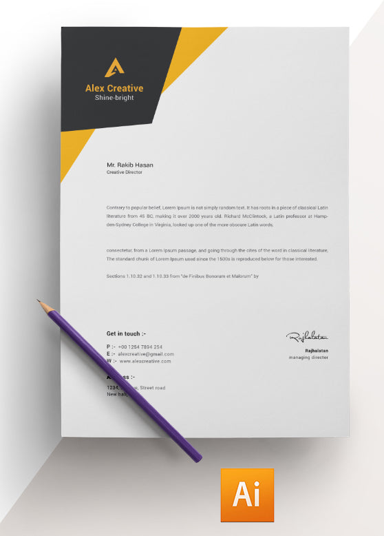 creative director letterhead template professional cv easy